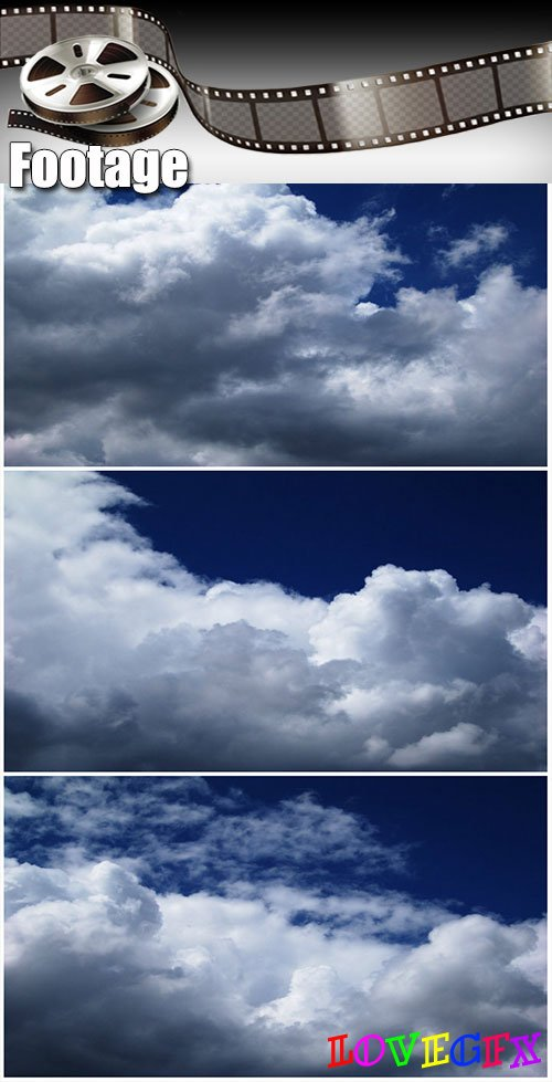 Video footage Time lapse of clouds against a dark blue sky