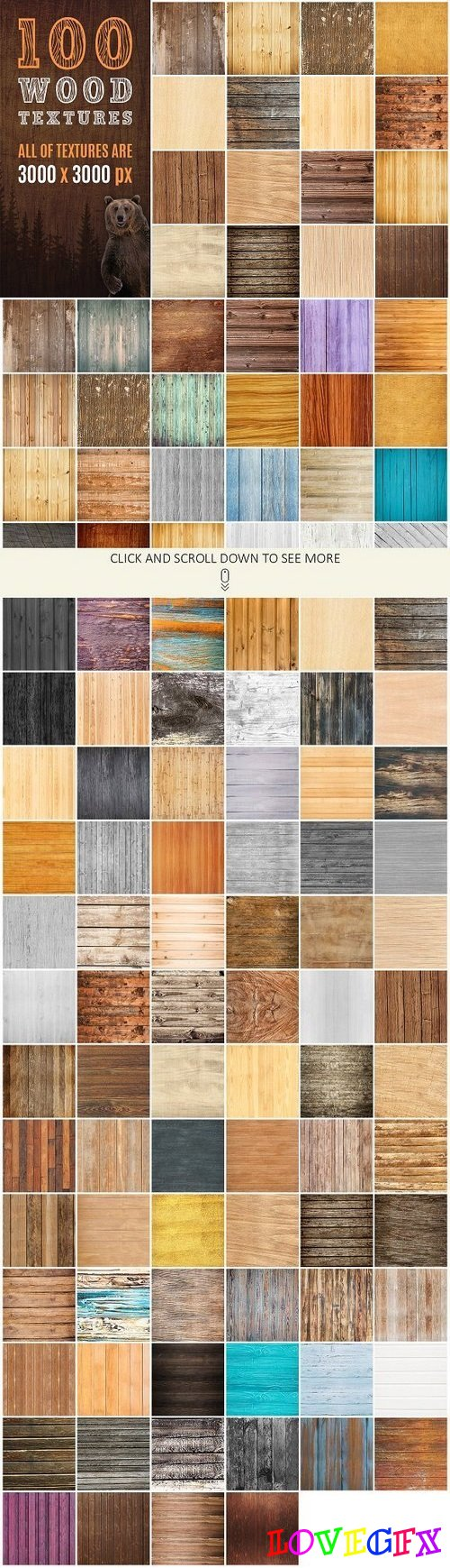 100 Real Wood Textures 1437724