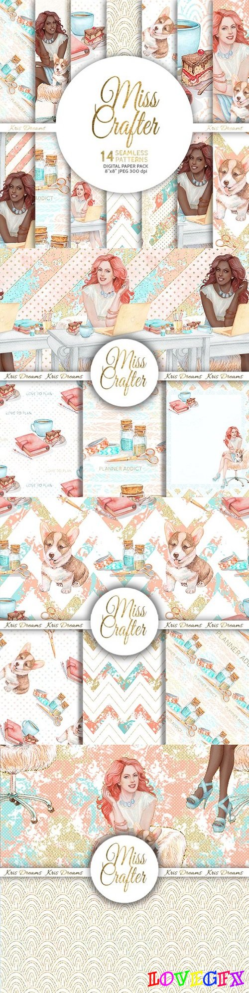 Miss Crafter Digital Paper 1490306