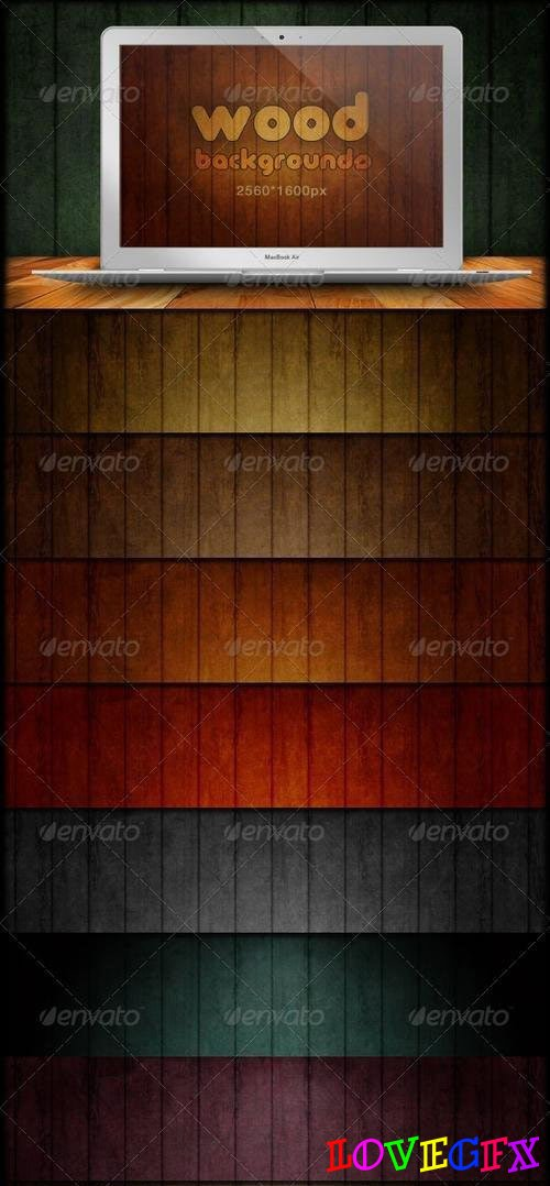 Wood Backgrounds - Grunge & Scratch