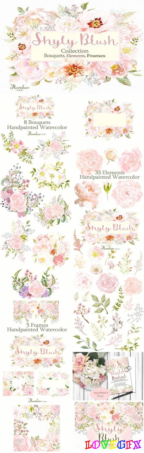 Shyly Blush Floral Collection 1438038