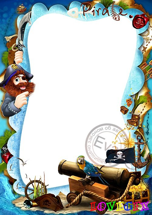 Child`s photo frame - My cheerful pirate