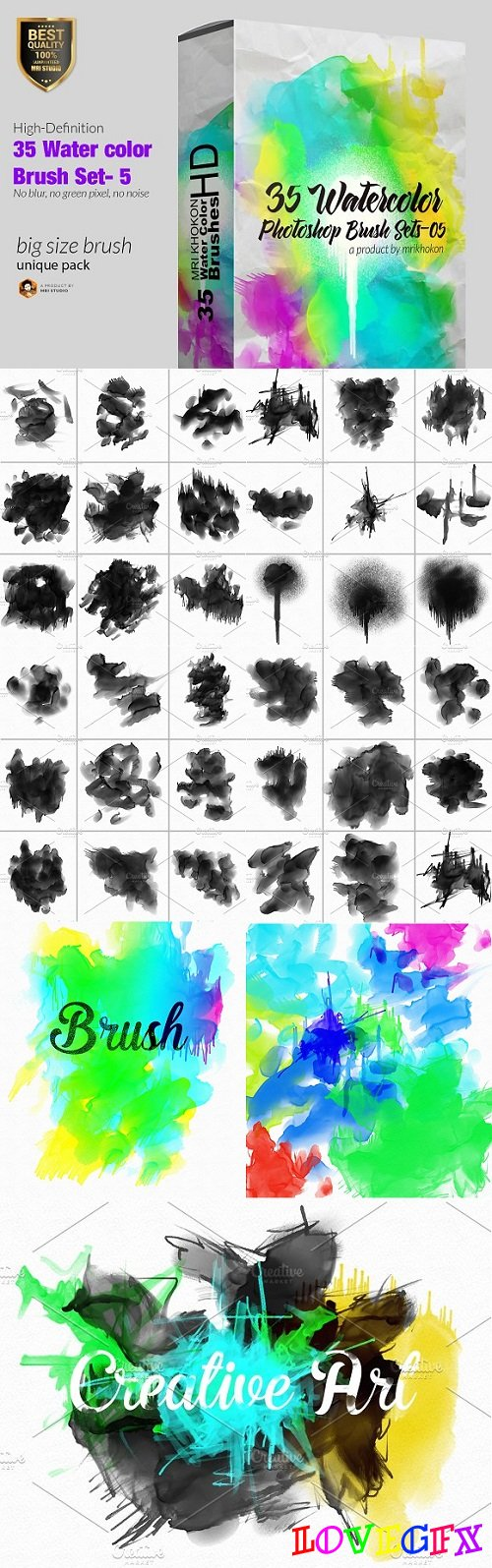 Water color Photoshop Brush Set-5 1514601