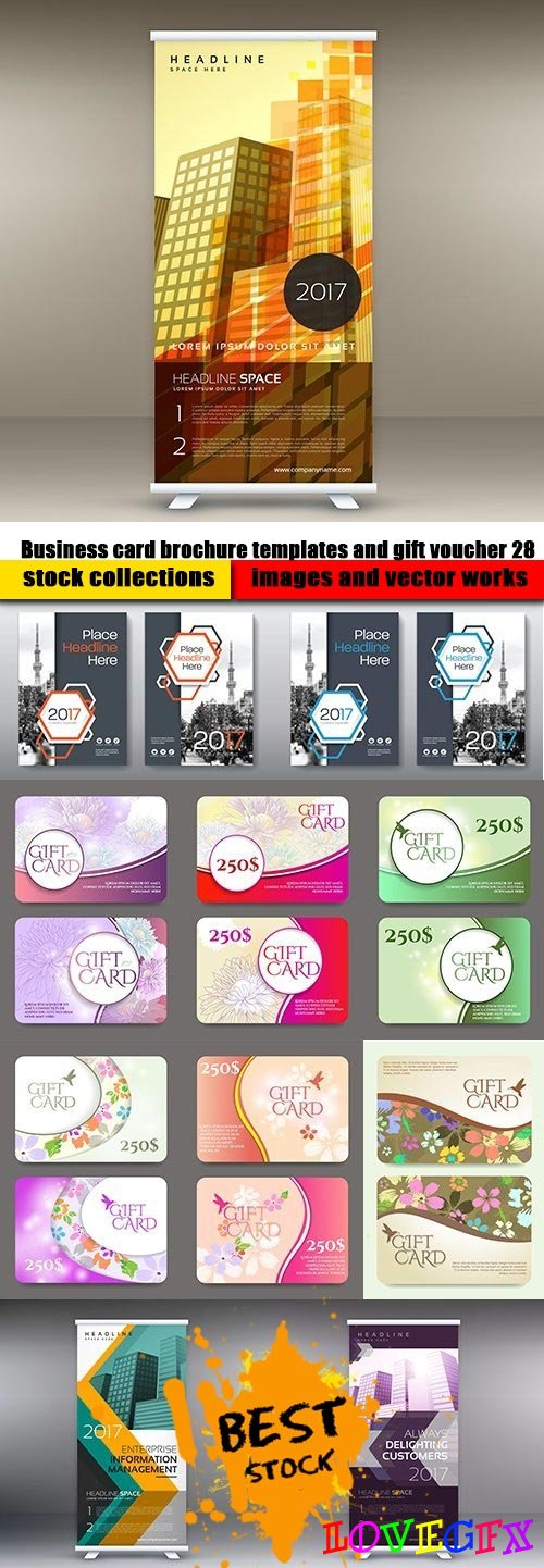 Business card brochure templates and gift voucher 28
