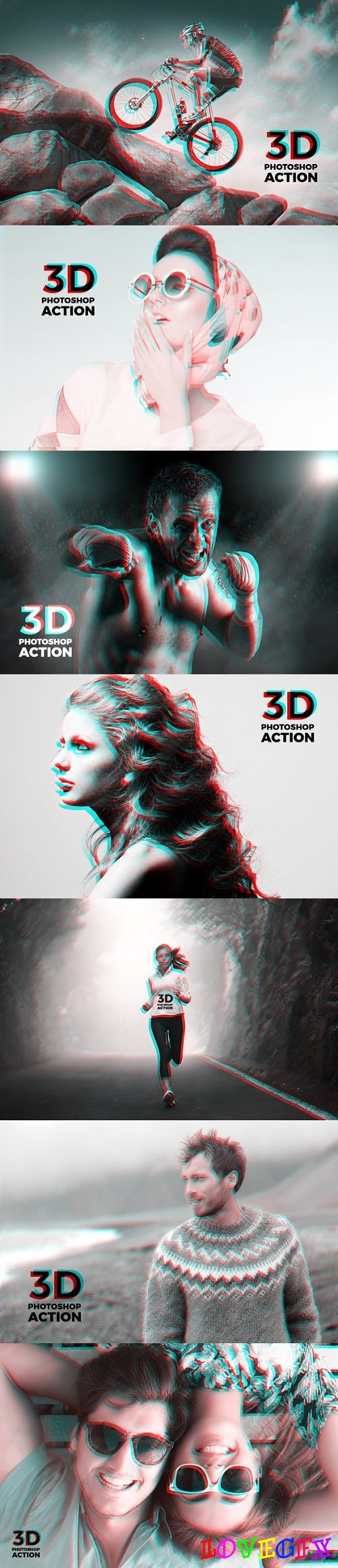 3D Effect Photoshop Action 1591512