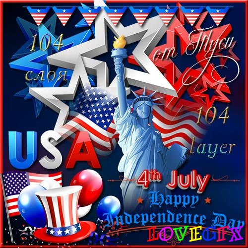 Clipart - Symbolism to the U.S. National Holiday
