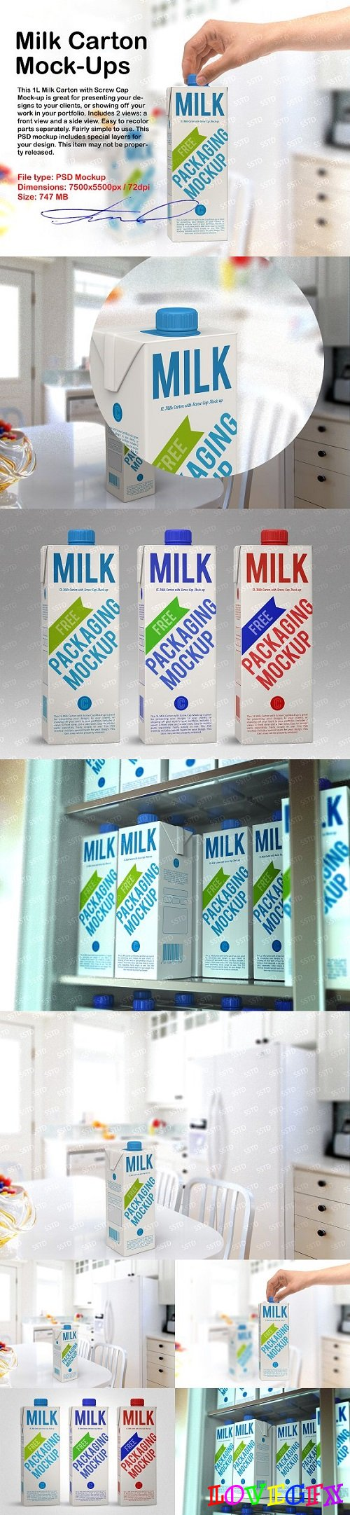 Milk Carton Mock-Ups 1613399