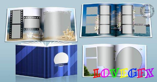 Template of a photobook for Photoshop - Rest 2017