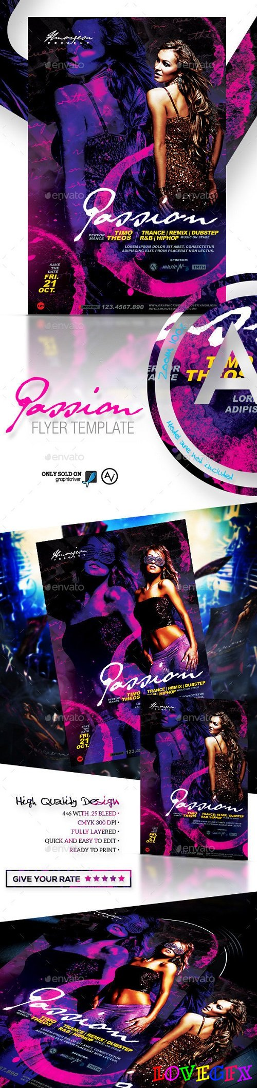 Passion Flyer Template 12047025