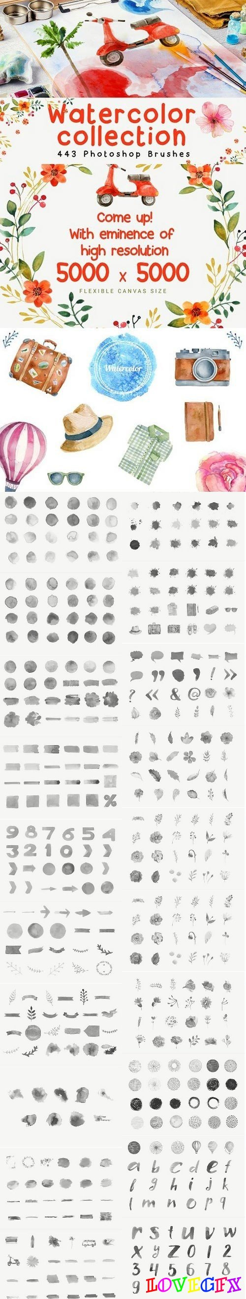 443 Photoshop Brushes 1529124