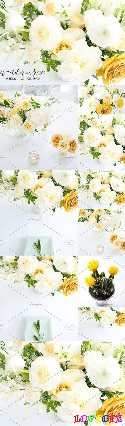 Yellow Flower Styled Stock Bundle 1519400