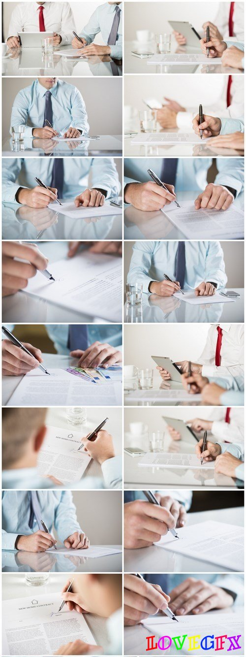 Business contract - 18xUHQ JPEG Photo Stock