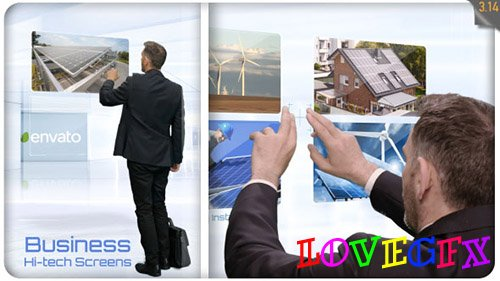 Business Hi-Tech Screens - Project for After Effects (Videohive)