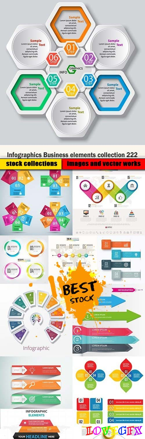 Infographics Business elements collection 222