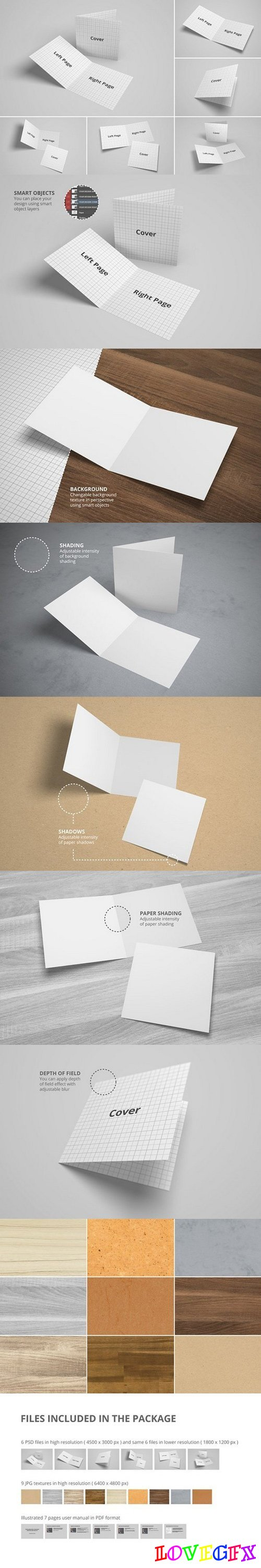 Bifold Brochure/Greeting Card Mockup 1493517