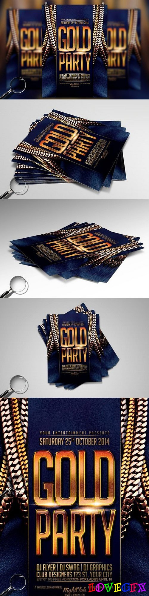 Gold Party | Urban Flyer Template 1617976