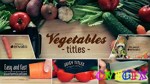 Vegetables Titles - Project for After Effects (Videohive)