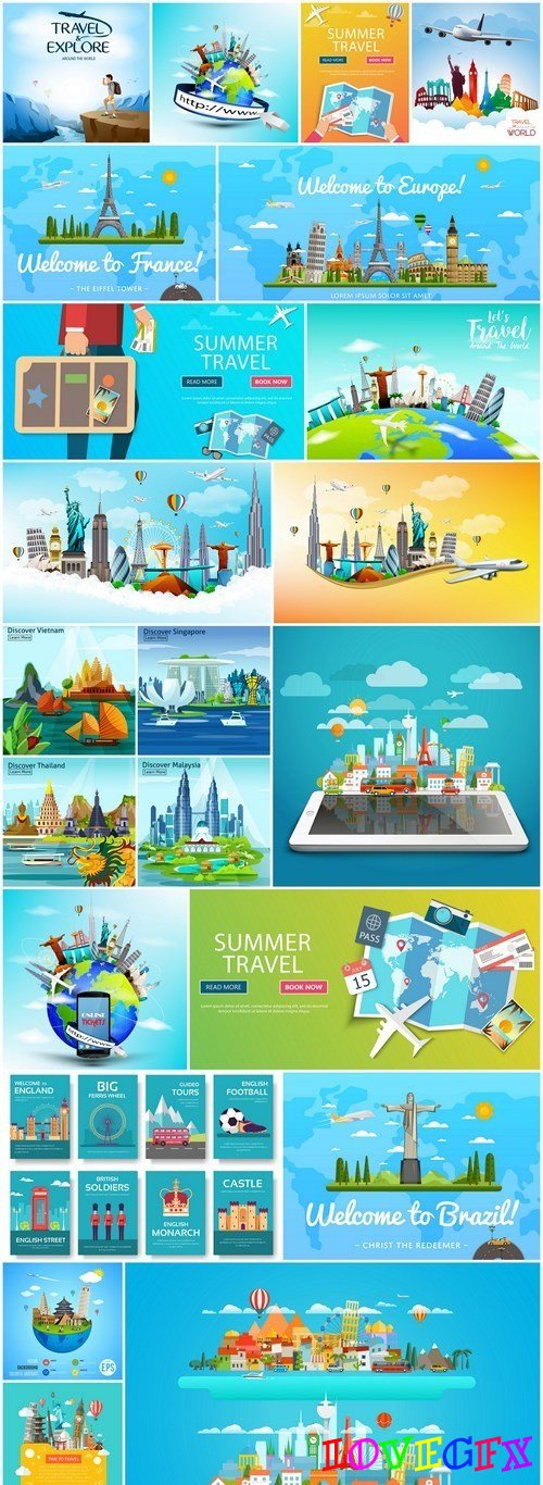 Travel The World - 20 Vector