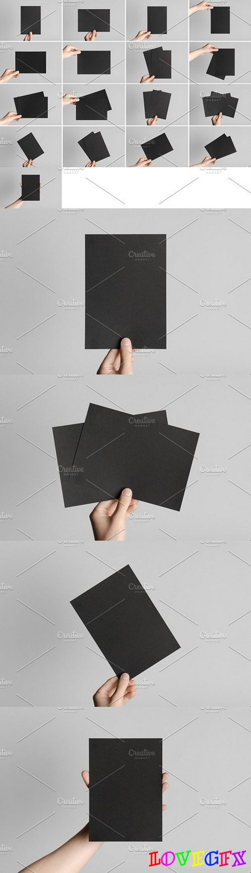 Black A5 Flyer Mock-Up Photo Bundle 1633098