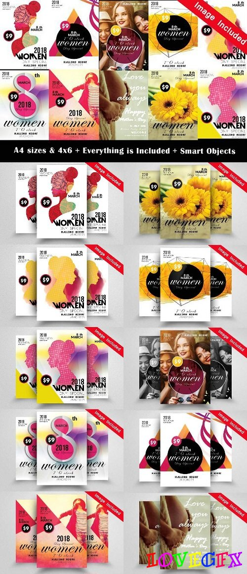 10 Women Day Flyer Bundle Vol 01 1721216