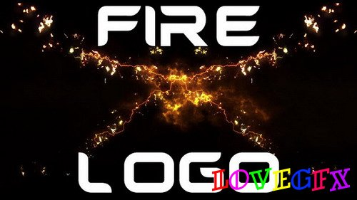 Fire X Logo - After Effects Template
