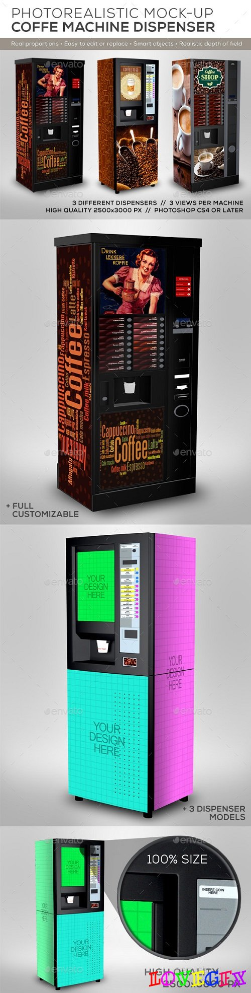 Coffee Cup Dispenser Machine Mock-Up - 8819603