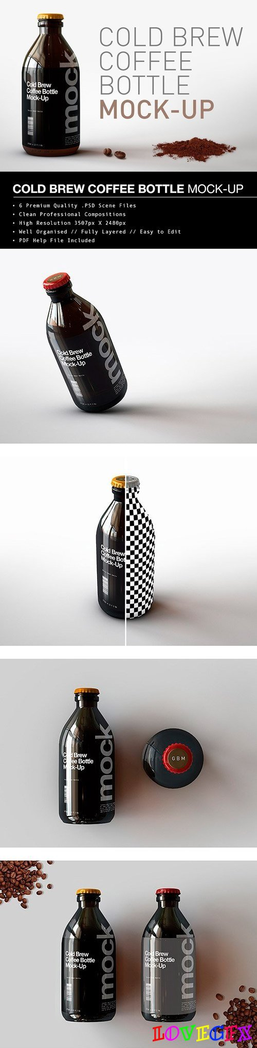 Cold Brew Coffee Bottle Mock-Up 1695956