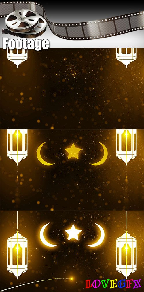 Video footage  ramadan (ramazan) mubarak candle