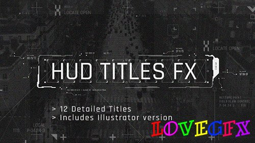 HUD Titles FX - Project for After Effects (Videohive)