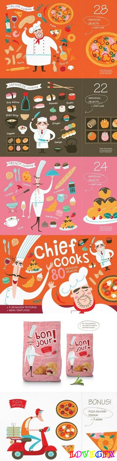 Chief cooks. National cuisines. 1347105