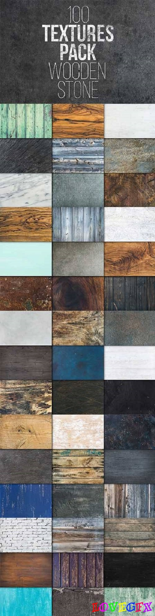 100 Textures Pack. Wooden & Stone 1723951
