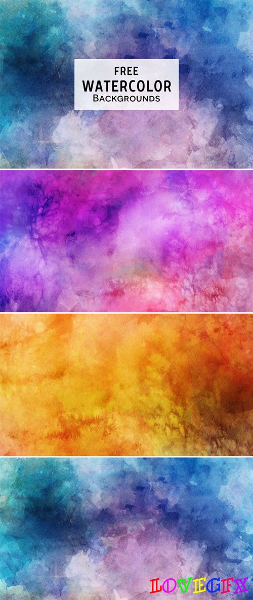 Watercolor Textured Backgrounds