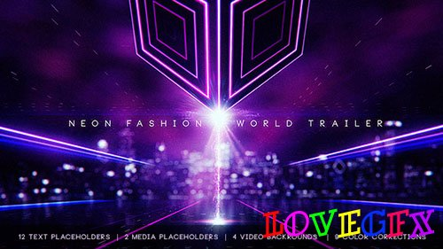 Neon Fashion World Trailer - Project for After Effects (Videohive)