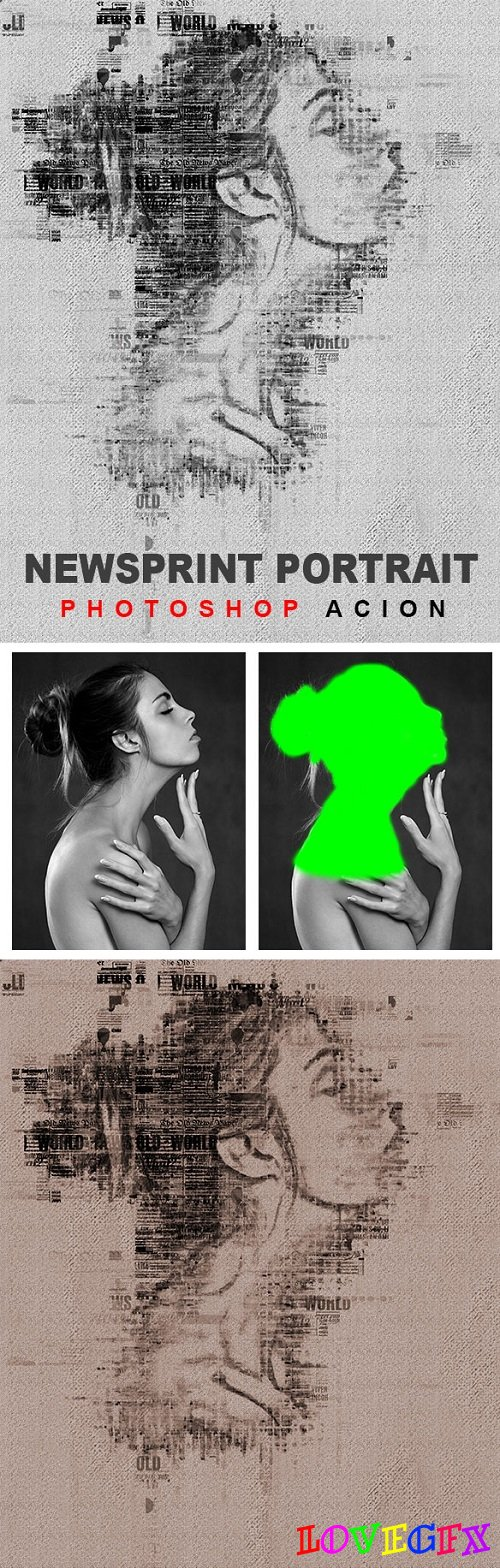 News Print Photoshop Action - 20534892
