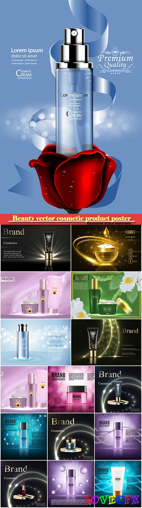 Beauty vector cosmetic product poster # 16