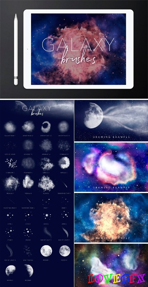 Galaxy Brushes for Procreate - 1817942