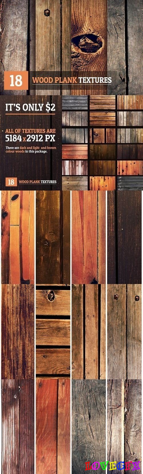 18 Wood Plank Textures - 1317717