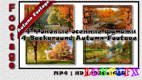 4 Background Autumn Footage