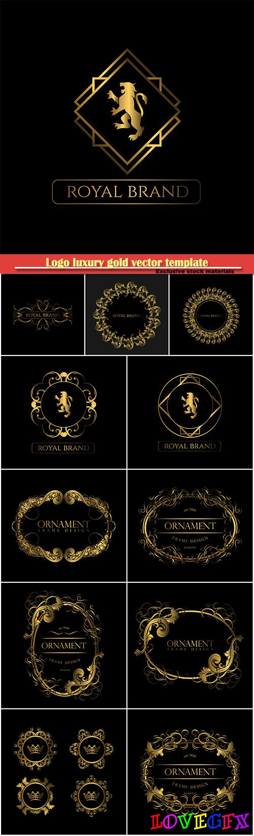Logo luxury gold vector template