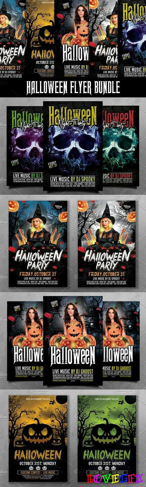 Halloween Flyer Bundle 1934090