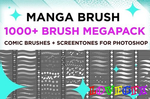 MANGA COMIC BRUSH MEGAPACK 1000+ 1890202