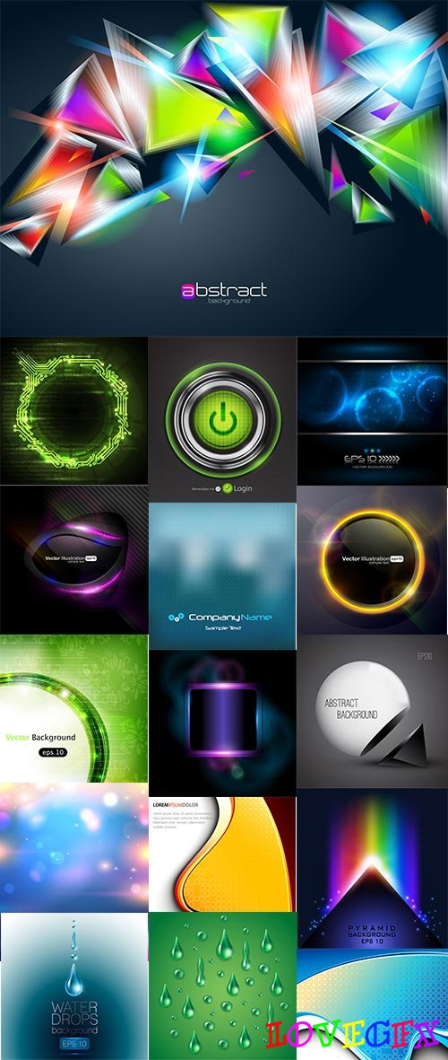 Abstract Background Collection_45 - 30 Vector