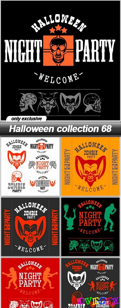 Halloween collection 68 - 7 EPS