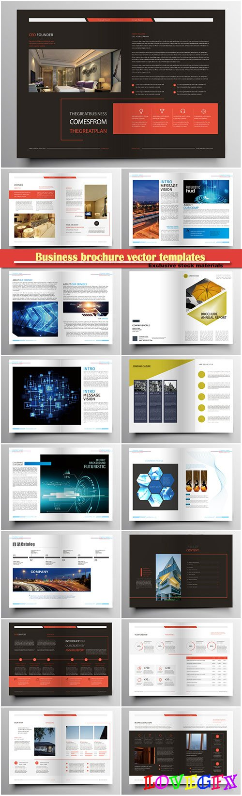 Business brochure vector templates, magazine cover, business mockup, education, presentation, report # 68