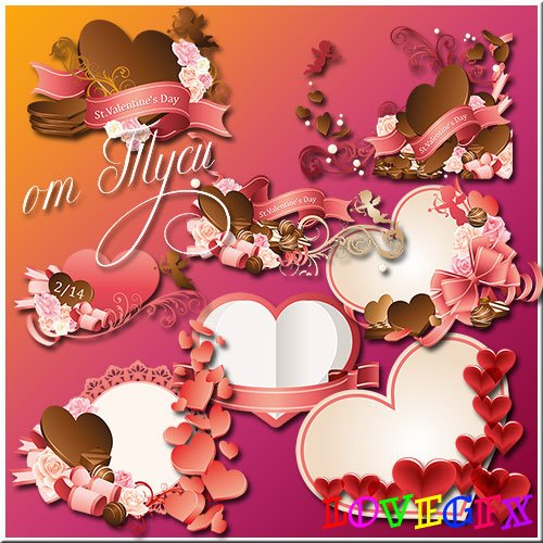 The consent of loving hearts - Clipart