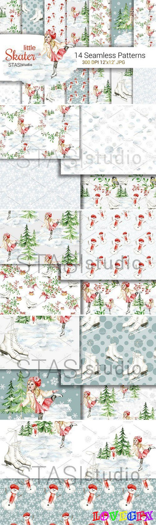 Christmas Digital Paper Pack 1890105