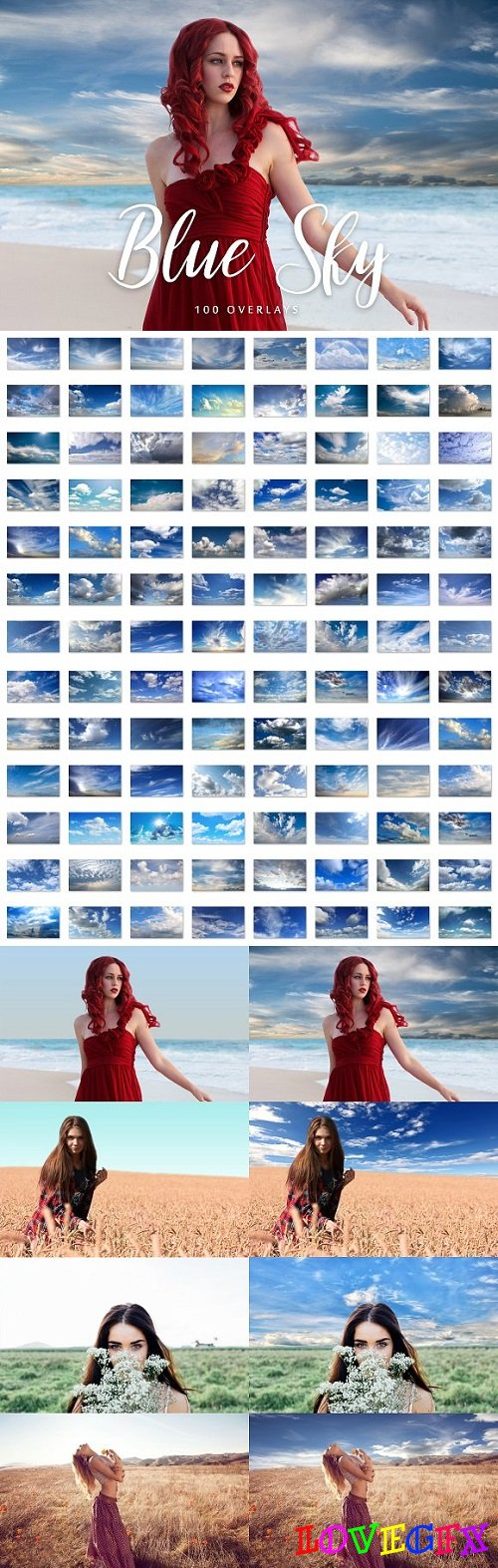 100 Blue Sky Overlays 1994030