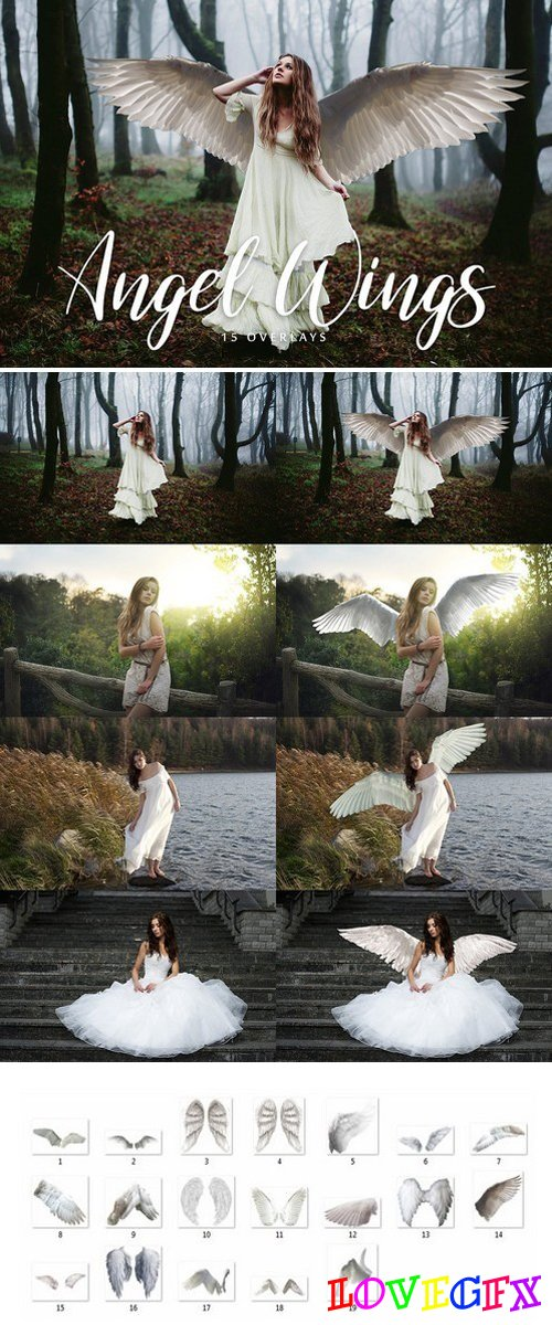 Angel Wings Overlays - 15 Overlays 1994167