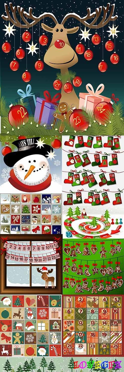 Merry Christmas funny calendar decorative elements