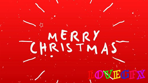Christmas Typography Card - Project for After Effects (Videohive)